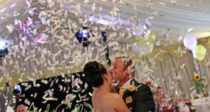 Confetti Cannon with couple